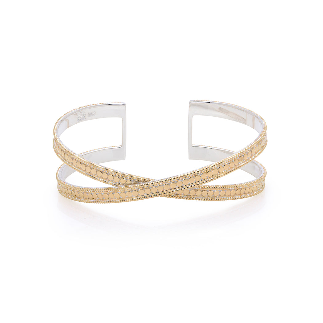 Single Cross Cuff - Gold