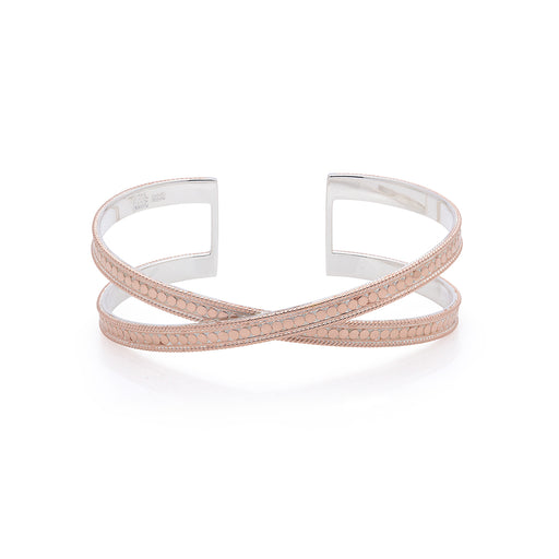 Single Cross Cuff - Rose Gold