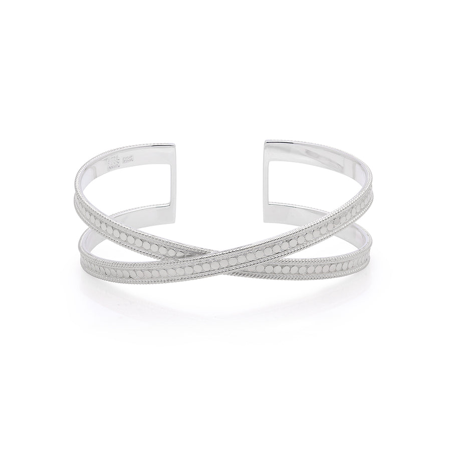 Single Cross Cuff - Silver