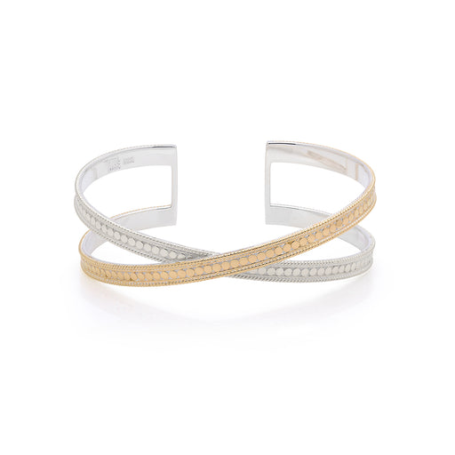 Single Cross Cuff - Gold & Silver
