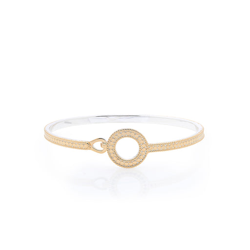 Circle of Life Open Hook Clasp Bracelet - Gold