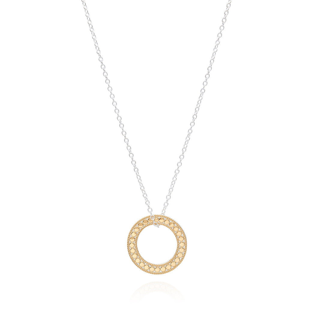 "Circle of Life Open ""O"" Charity Necklace, Large - Gold & Silver"