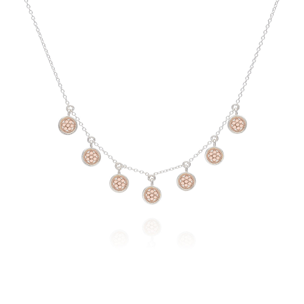 Mini Disc Charm Necklace - Rose Gold