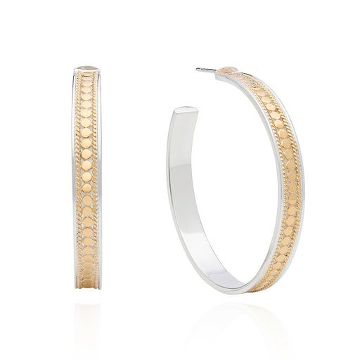 Large Hoop Post Earring - Gold