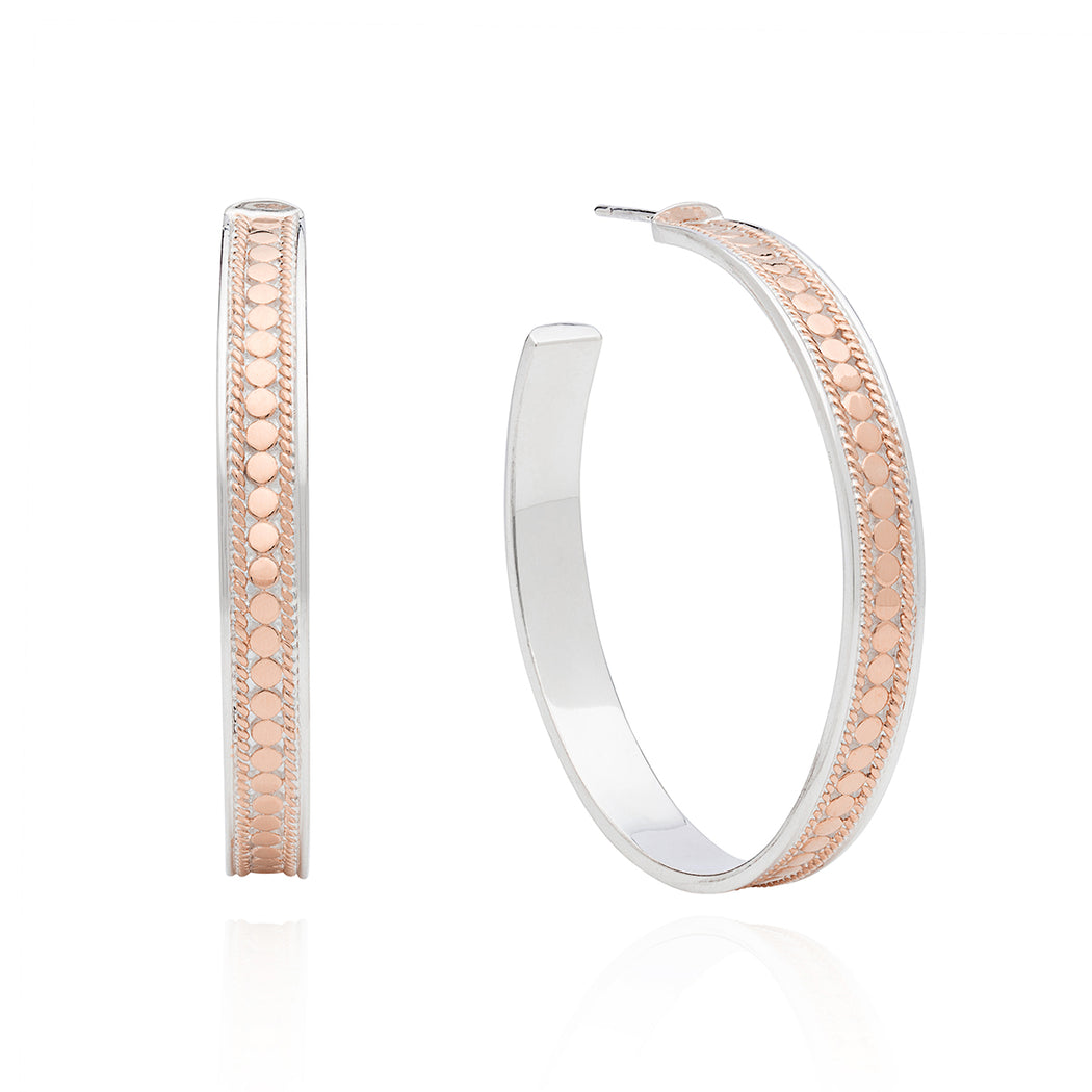 e8bdeaa9e Large Hoop Post Earrings - Rose Gold — Anna Beck Designs, Inc