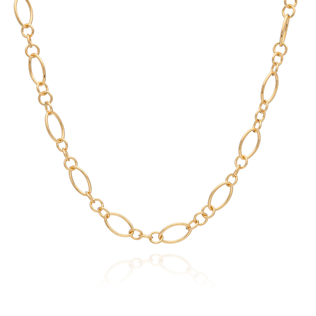 Oval Chain Long Necklace - Gold - Limited Edition