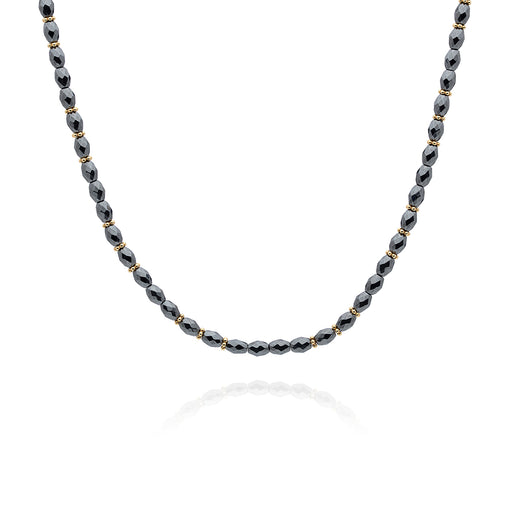 Limited Edition: Hematite Beaded Choker - Gold