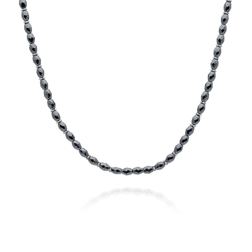 Limited Edition: Hematite Beaded Choker - Silver