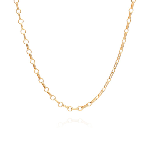 Limited Edition: Bar & Ring Chain Choker - Gold