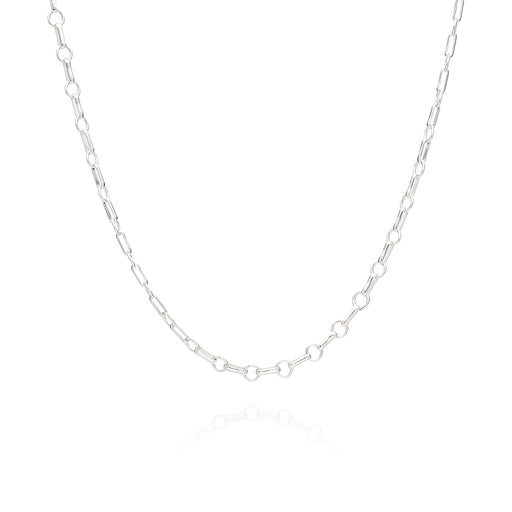 Limited Edition: Bar & Ring Chain Choker - Silver