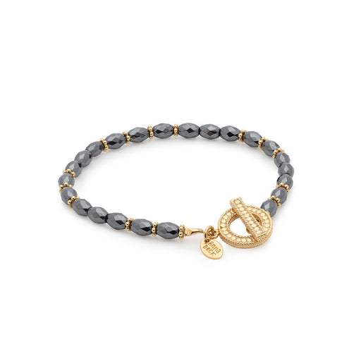 Limited Edition: Exclusive Hematite Beaded Bracelet - Gold