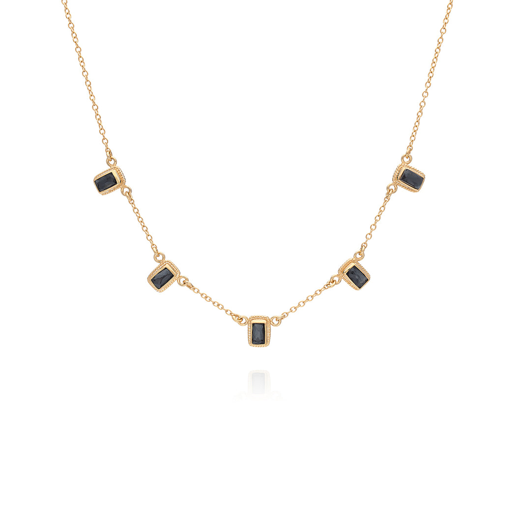 Limited Edition: Hematite Multi-Bar Necklace - Gold