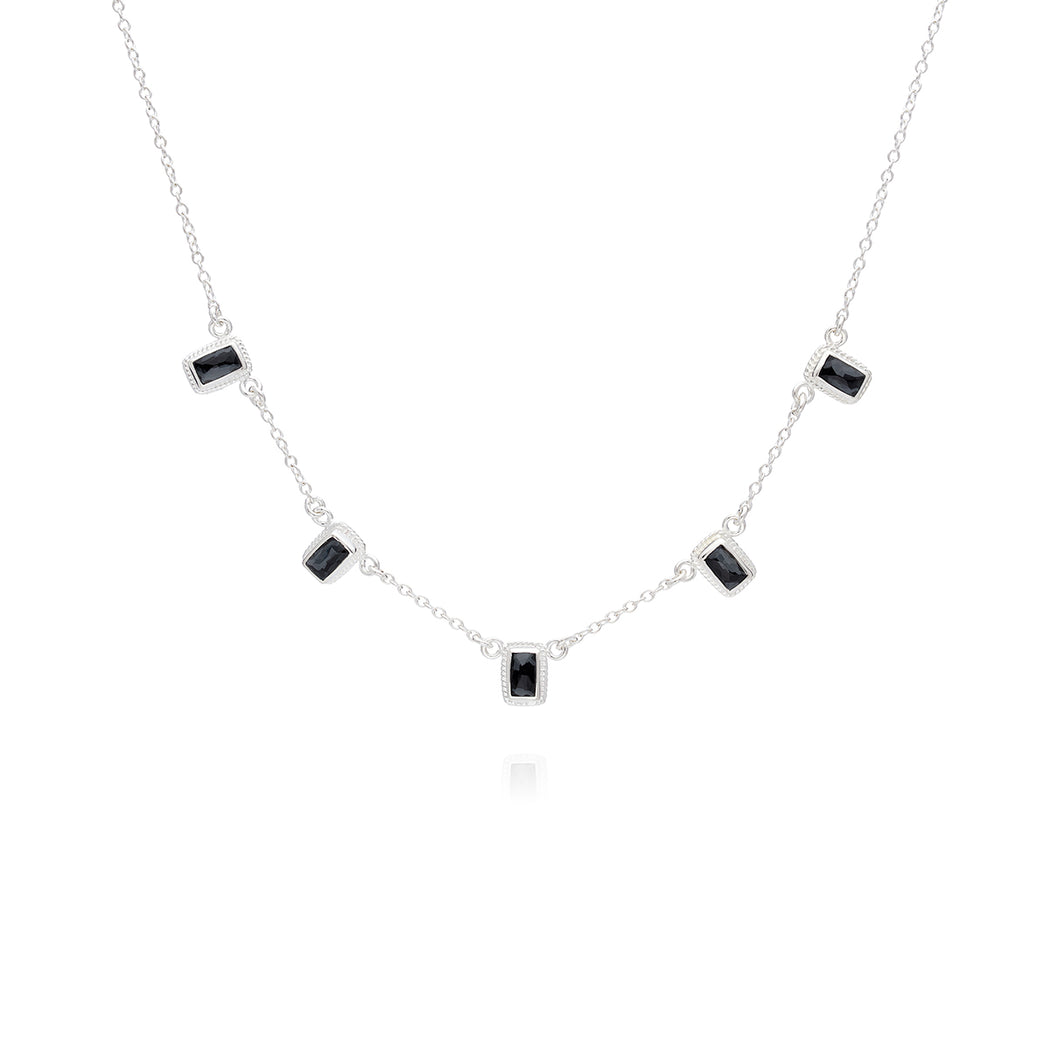 Limited Edition: Hematite Multi-Bar Necklace - Silver