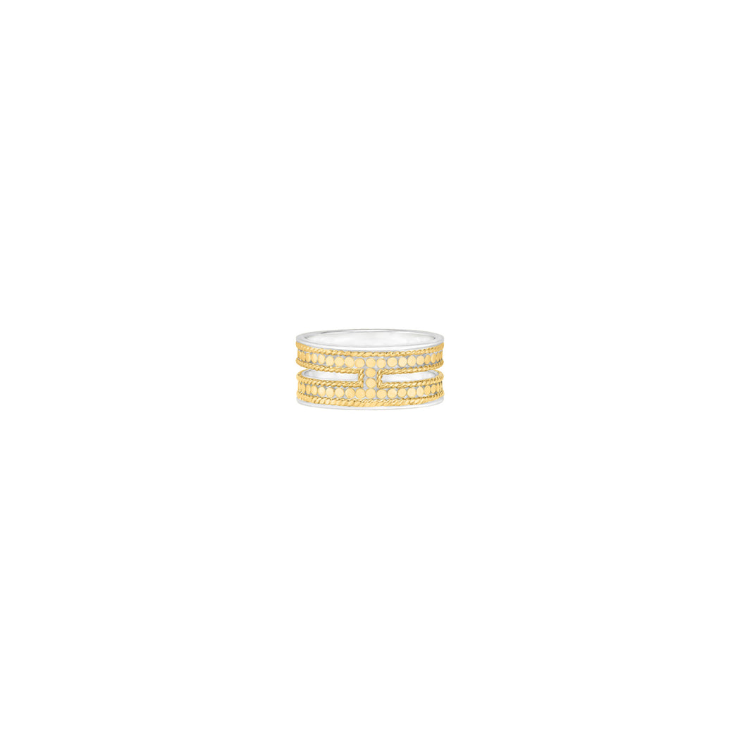Double Bar Ring - Gold