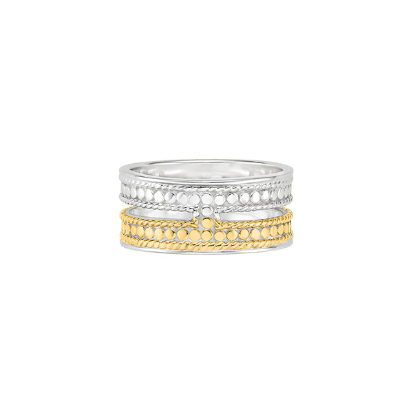 Double Bar Ring - Gold & Silver