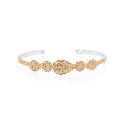 Signature Mixed Medallion Cuff - Gold
