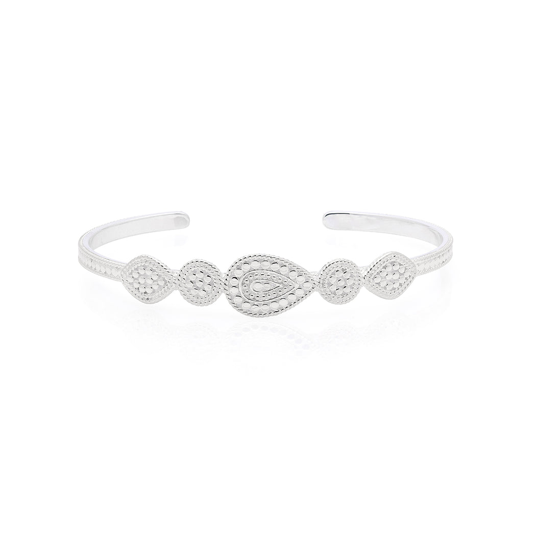 Signature Mixed Medallion Cuff - Silver