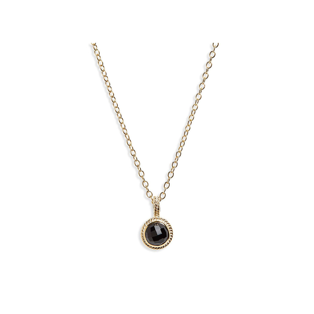 Black Onyx Small Pendant Necklace