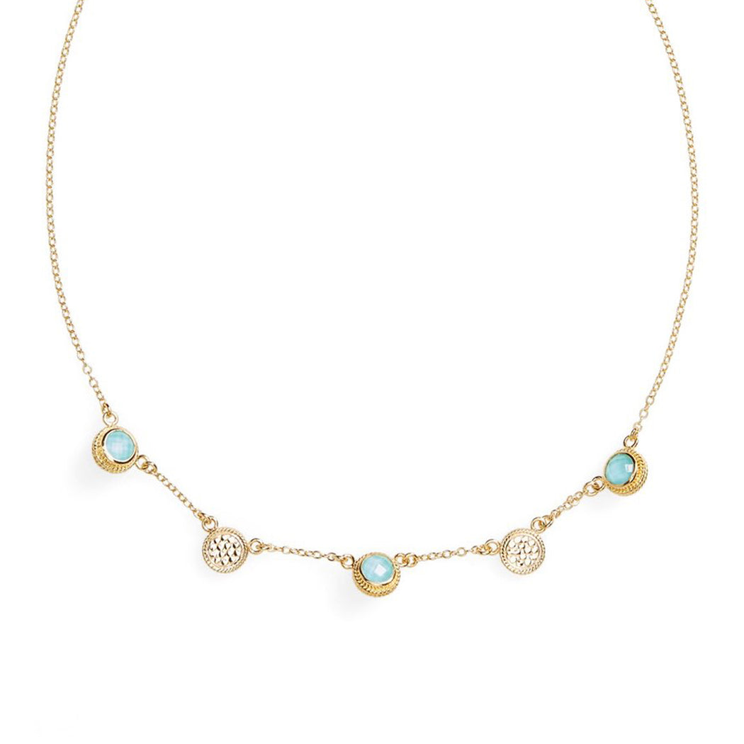 Turquoise Station Collar Necklace