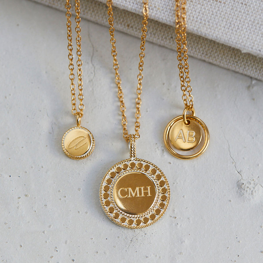 Engravable Double Circle Necklace