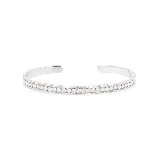 Dotted Stacking Cuff - Silver