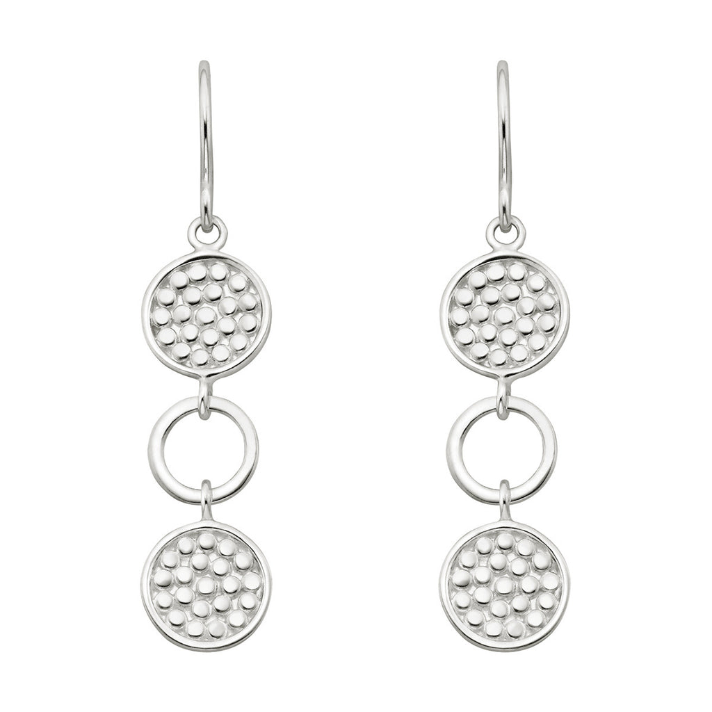 Signature Multi Circle Drop Earrings - Silver