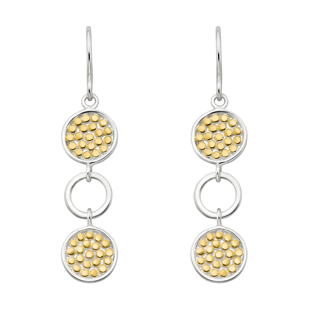 Signature Multi Circle Drop Earrings - Gold & Silver