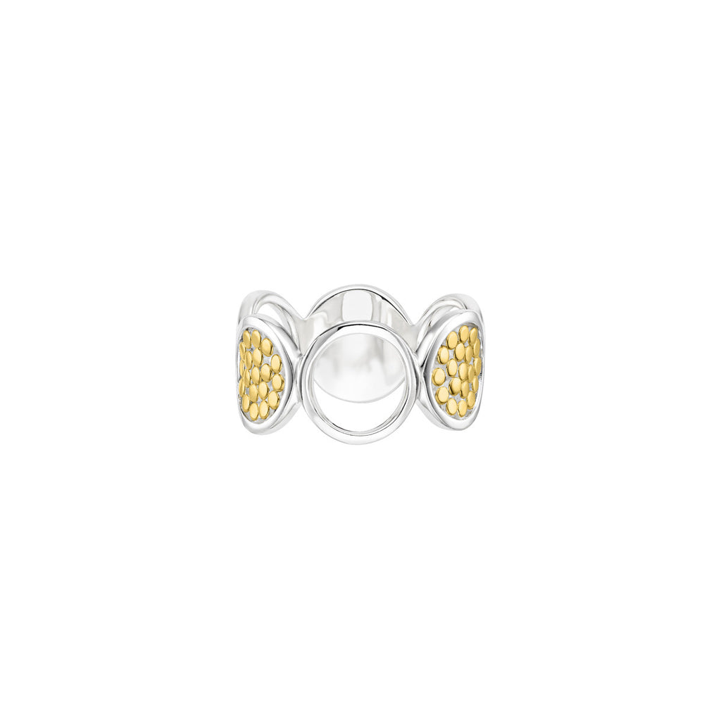 Signature Multi-Disc Open Circle Ring - Gold & Silver