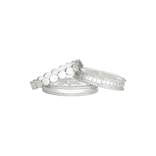 Stacking Rings (Set of 3) - Silver
