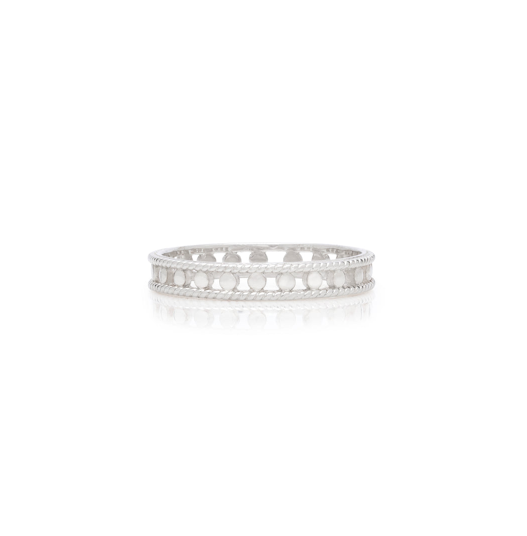 Open Circle Stacking Ring - Silver