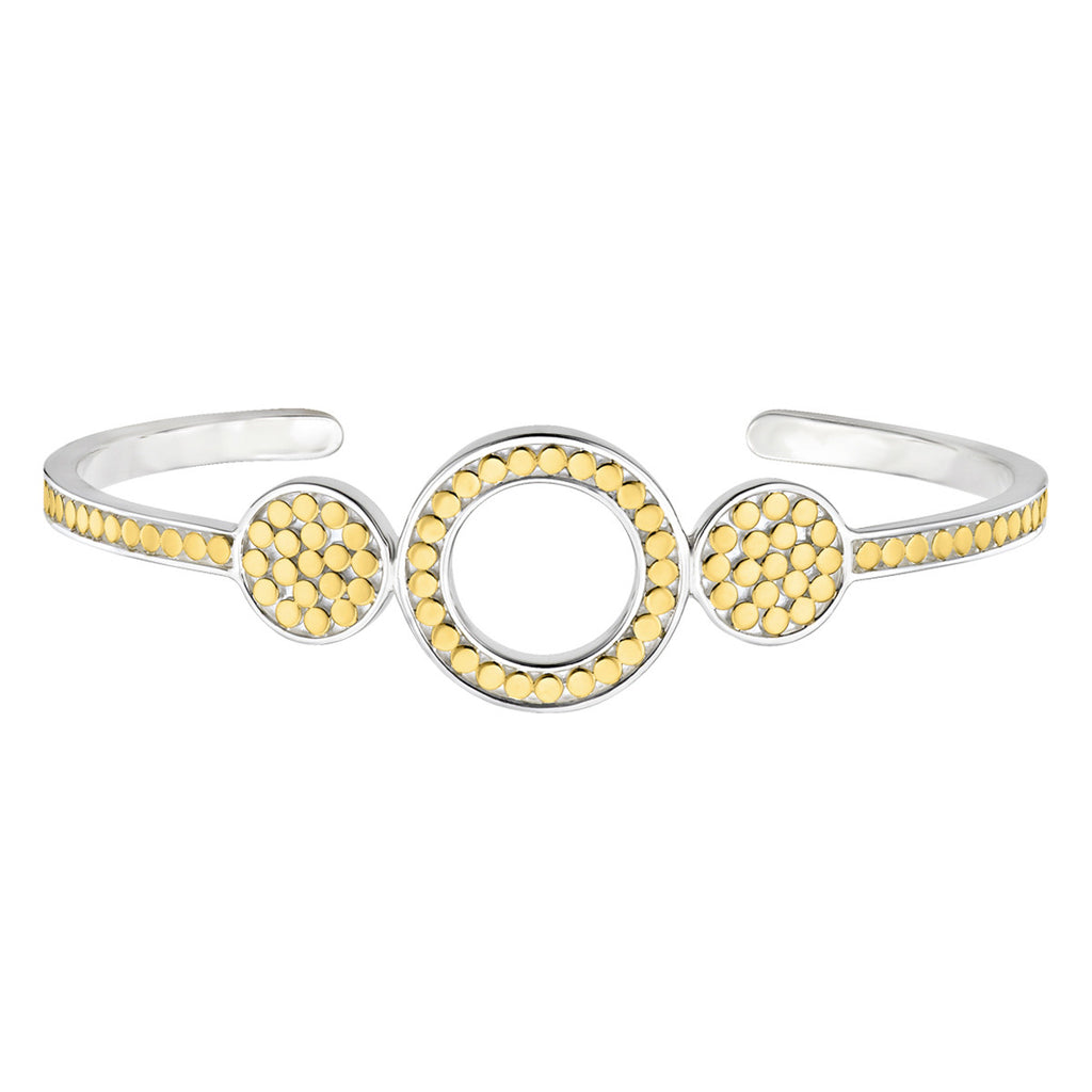 Signature Open Circle Cuff - Gold & Silver