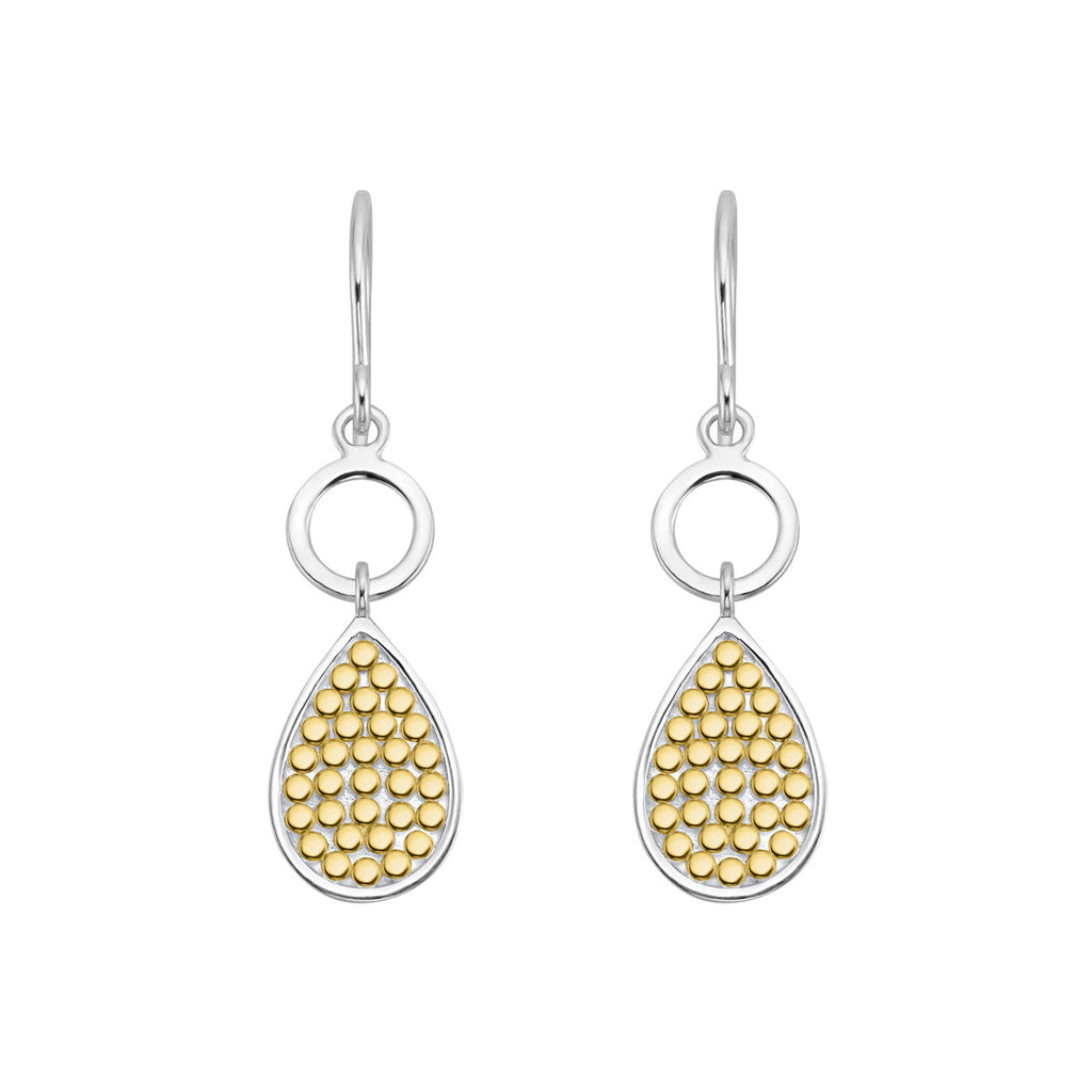 Signature Double Drop Earrings - Gold & Silver