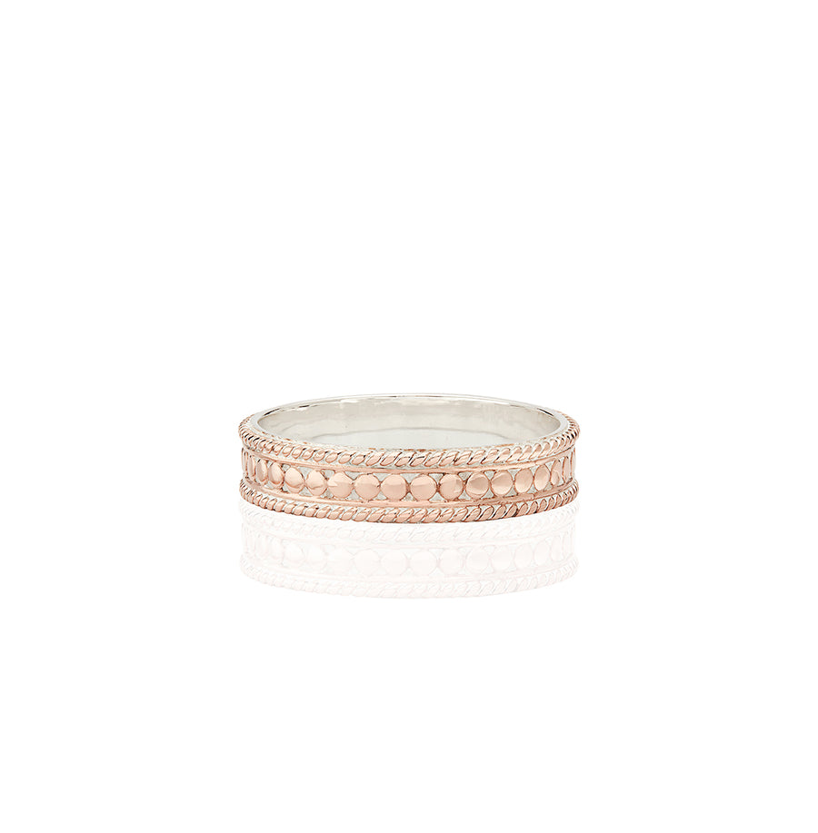 Dotted Stacking Ring - Rose Gold