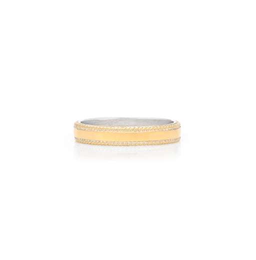 Smooth Band Stacking Ring - Gold