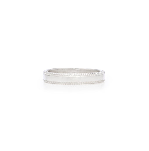 Smooth Band Stacking Ring - Silver