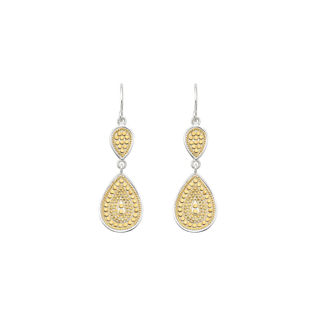 Signature Double Drop Earrings - Gold