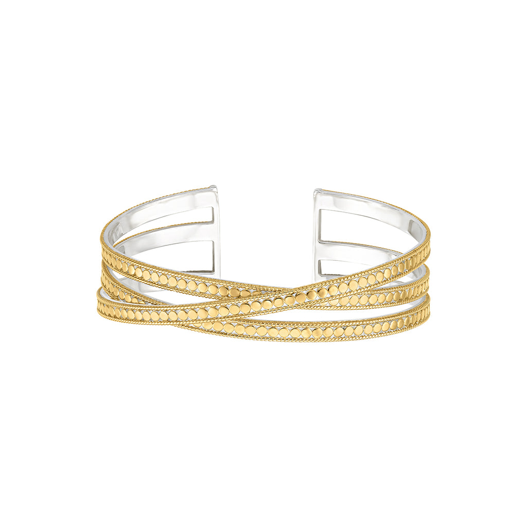 Signature Crossover Cuff - Gold