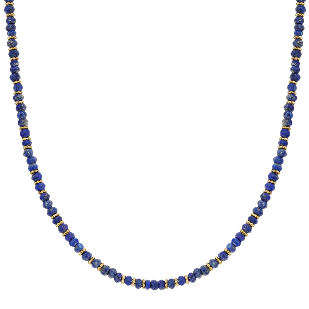 Lapis Beaded Collar Necklace