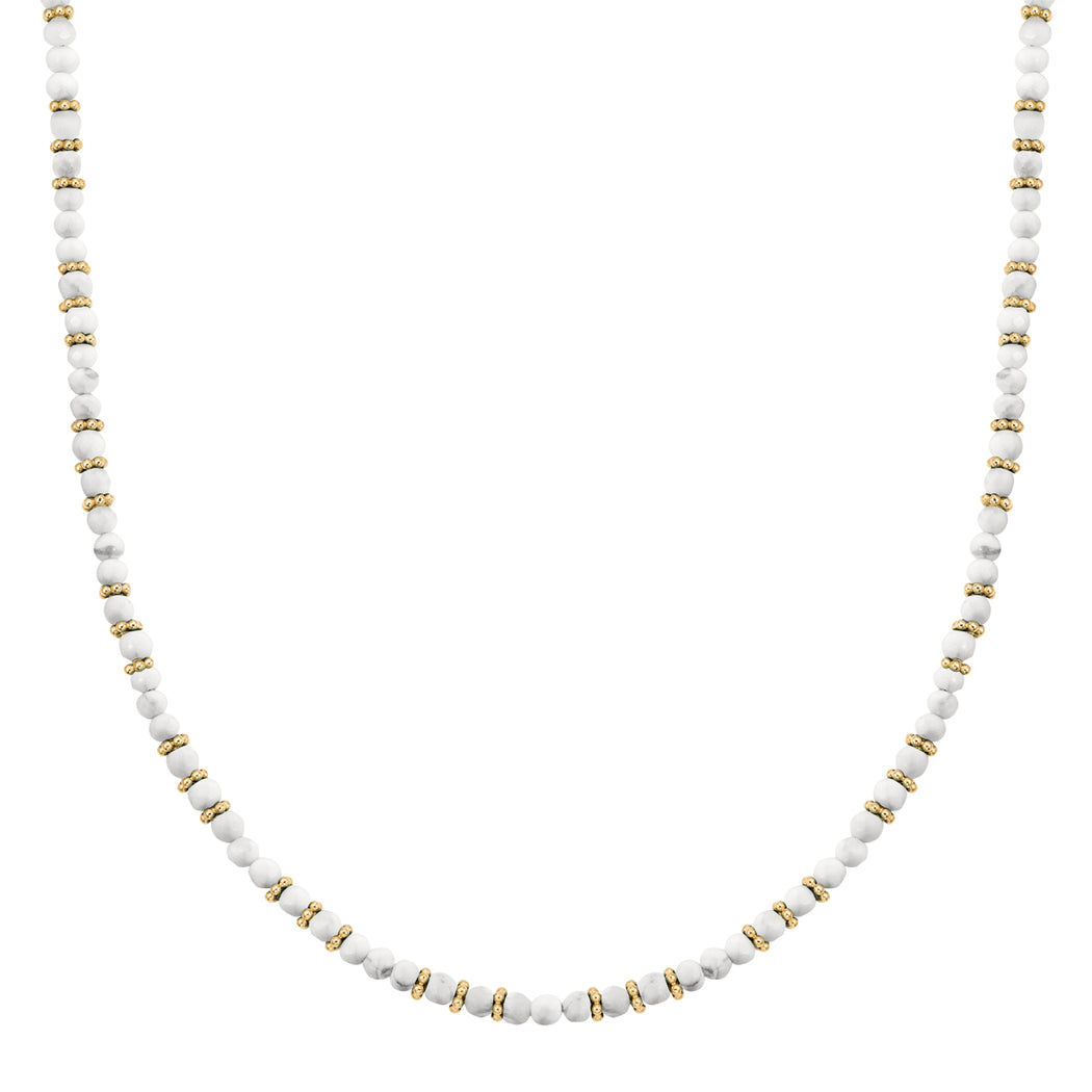 Howlite Beaded Collar Necklace