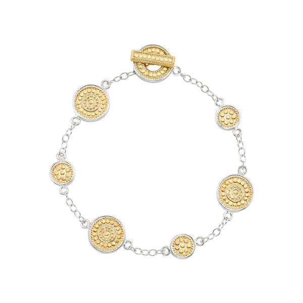 Signature Medallion Multi-Disc Bracelet - Gold