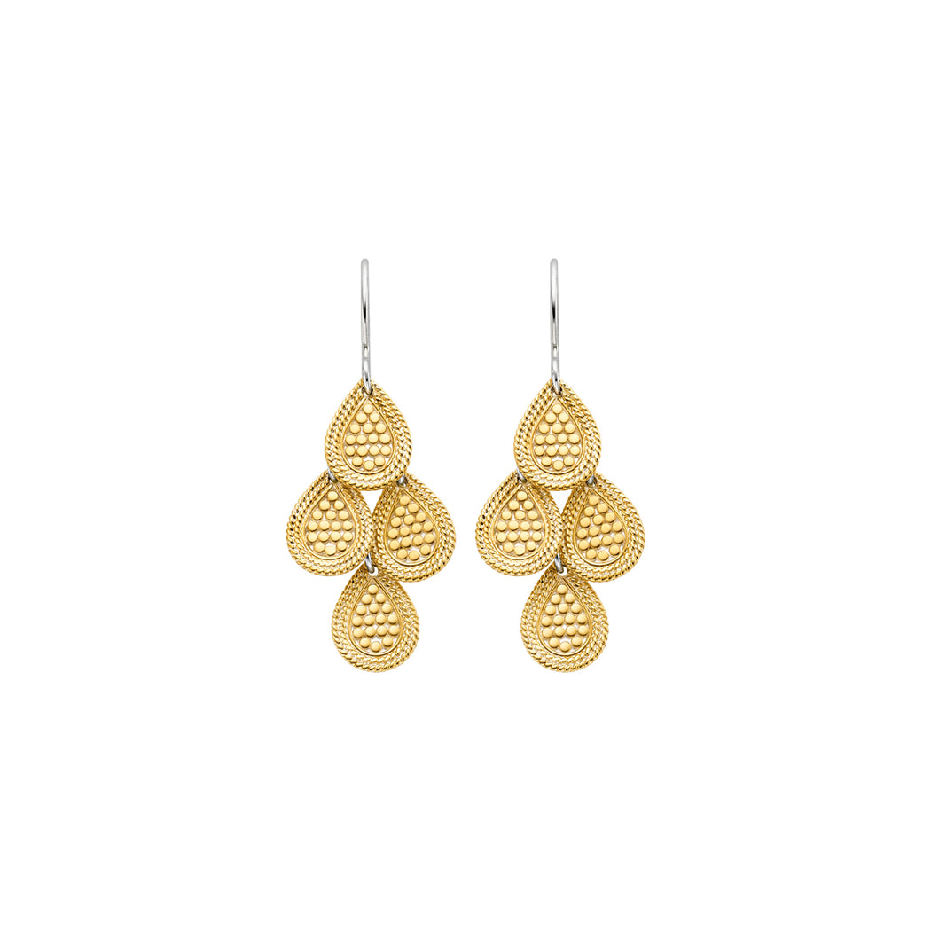 Beaded Chandelier Earrings - Gold