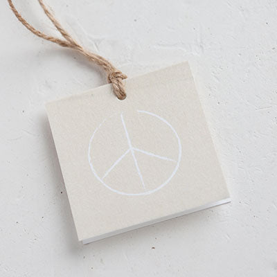 Deluxe Gift Wrap: Peace Sign Gift Tag