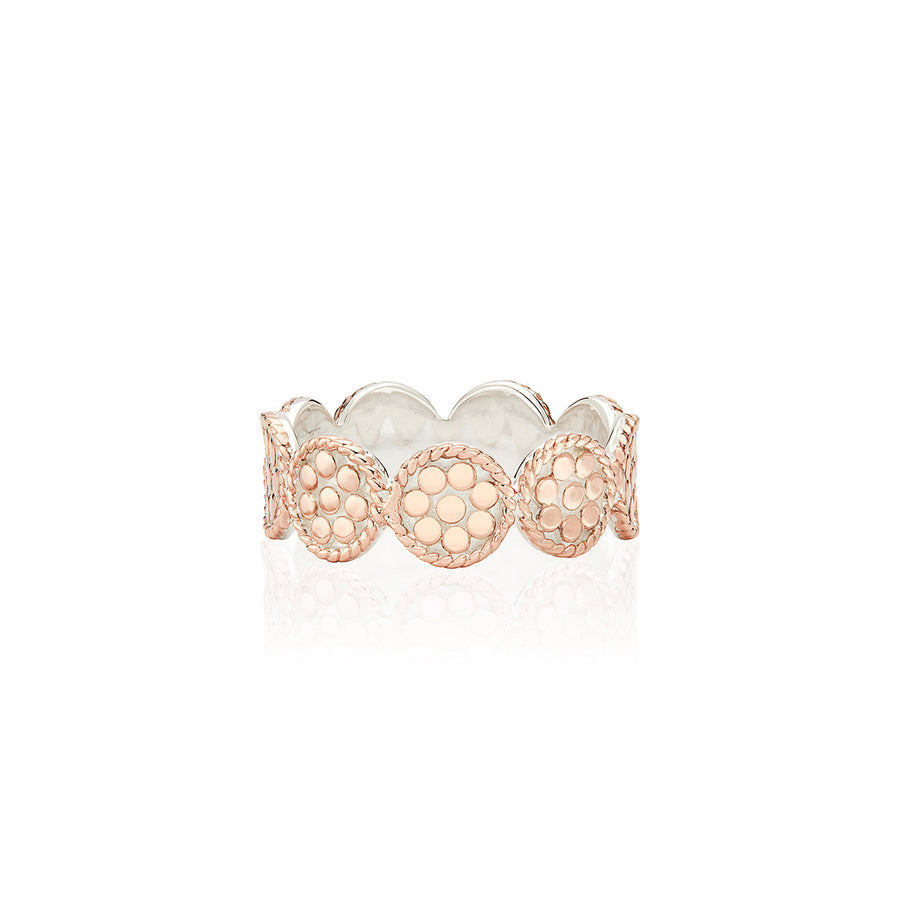 Mini Disc Band Ring - Rose Gold