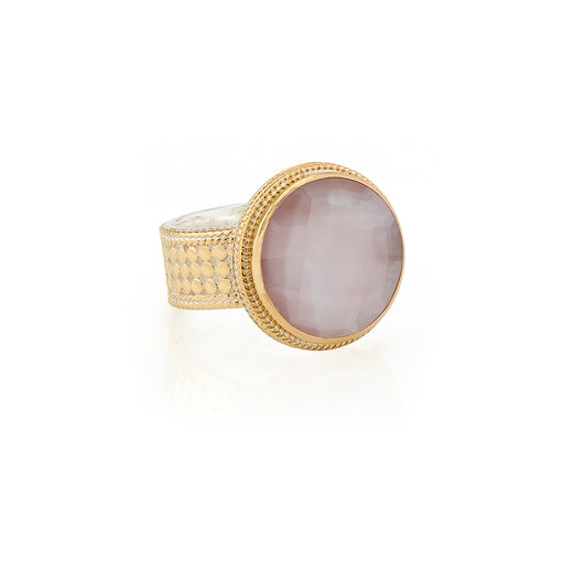 Guava Cocktail Ring - Gold