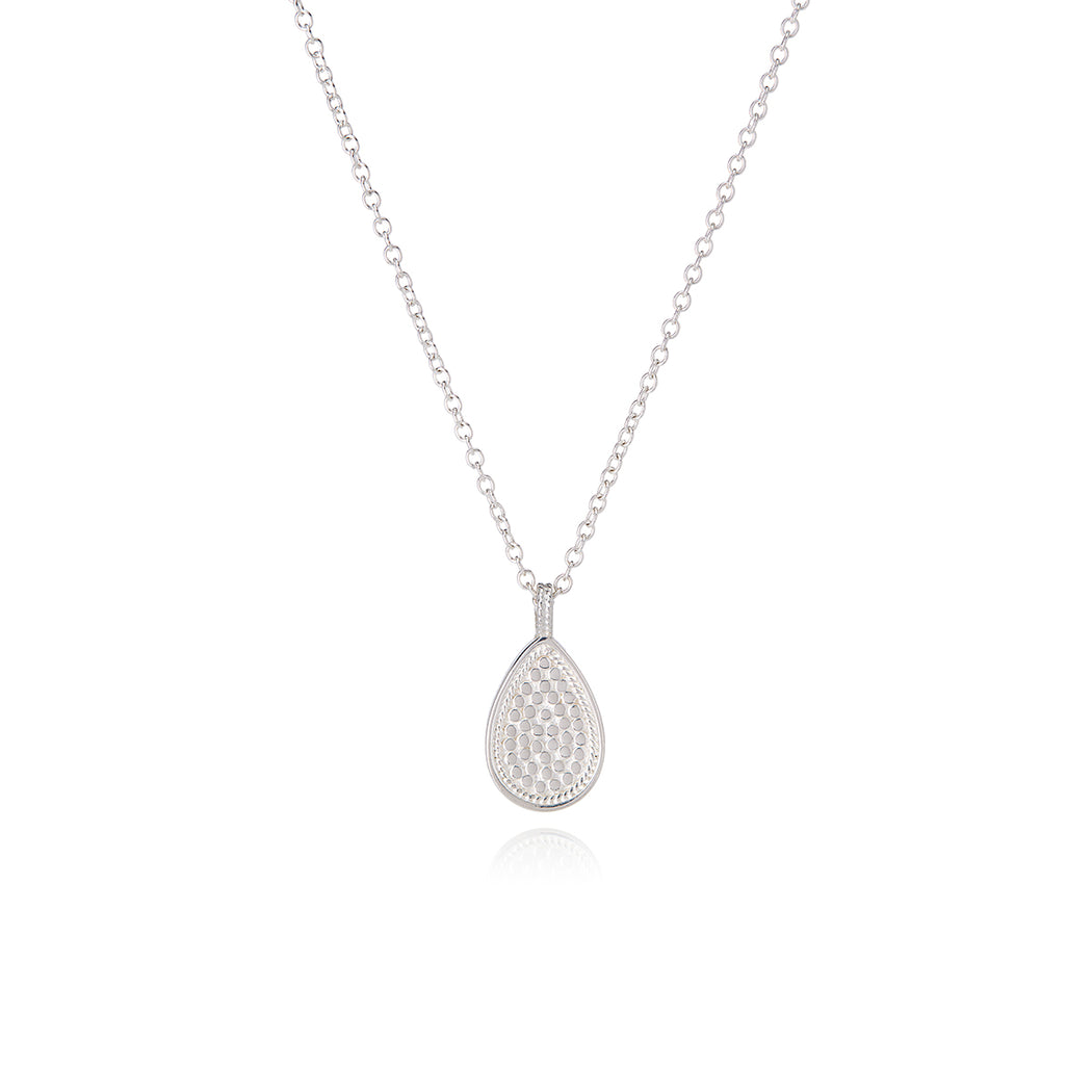 Signature Beaded Single Drop Pendant Necklace