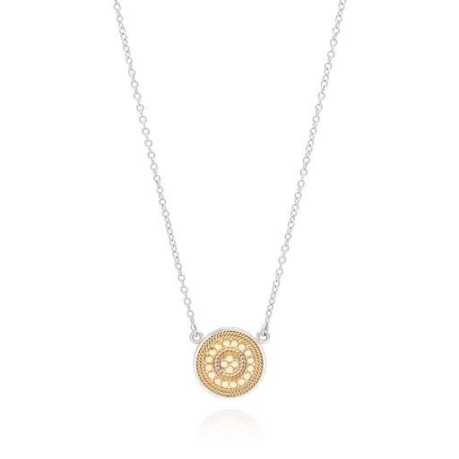 Signature Beaded Disc Pendant Necklace