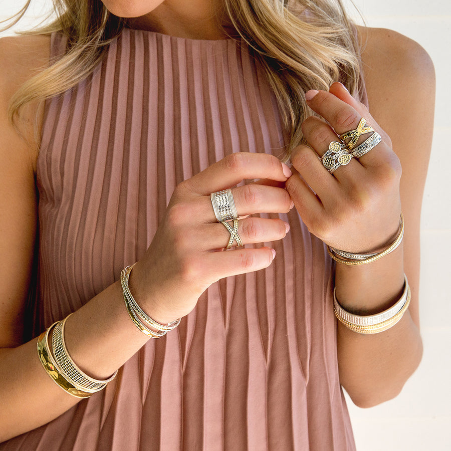Classic Faux Stacking Ring - Gold & Silver