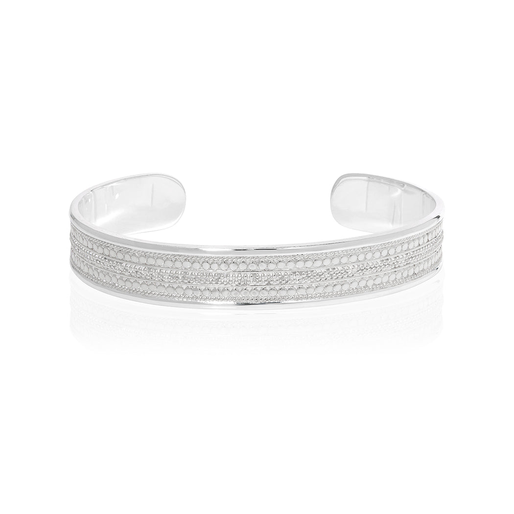 Signature Beaded Cigar Cuff - Silver