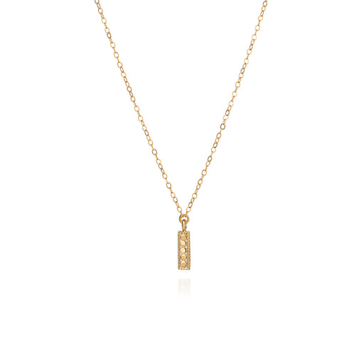 Mini Vertical Bar Necklace - Gold