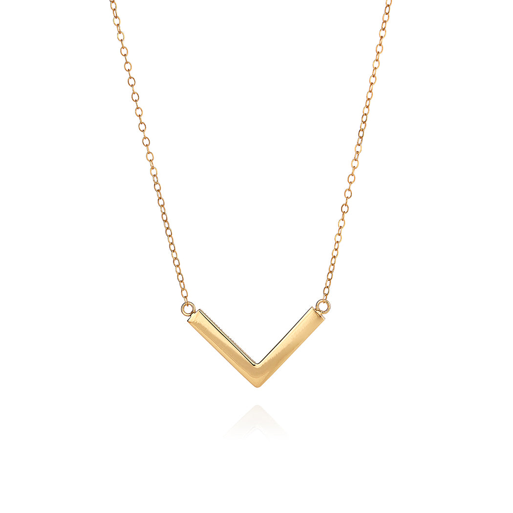 Medium Arrow Necklace - Gold